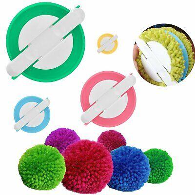 Wool Balls Soft Round Pom Pom Knitting Weaver Needle Loom Plush Craft Decor DIY