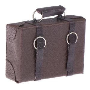 1-12-Doll-house-Miniature-Vintage-Wood-Suitcase-Mini-Luggage-Box-OT