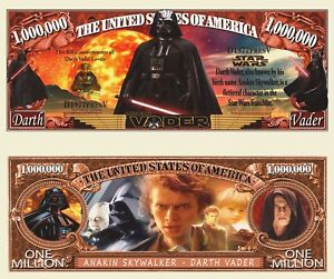 Star Wars StormTrooper Million Dollar Bill Funny Money Tract Note FREE SLEEVE