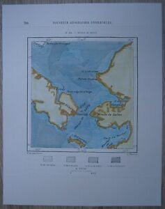 1881 Perron map: Bering Strait, Russia / Alaska (#162)