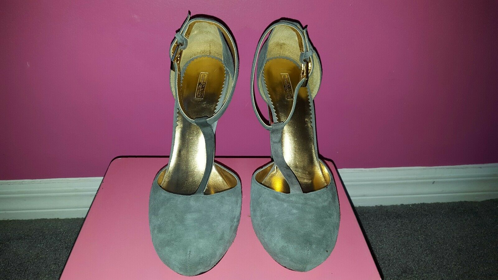 Report Signature guarda T-correa Plataforma stilletos gris Talle 10 10 10  de moda