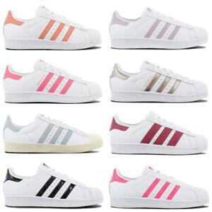 Details zu adidas Originals SUPERSTAR Sneaker Damen Schuhe Leder Turnschuhe  Weiß Sportschuh