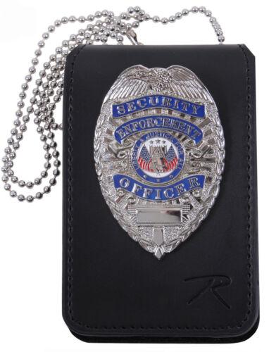 detective badge id holder leather universal design rothco 1136