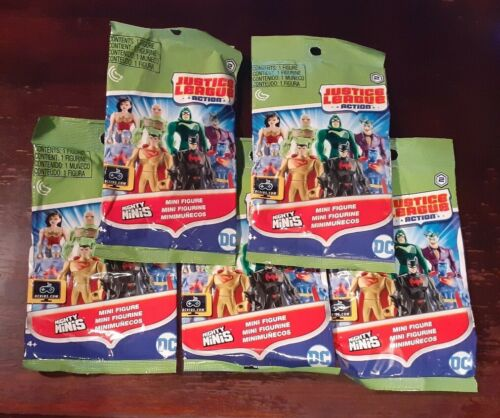 5 DC Justice League Mighty minis figures aveugles Sacs-New /& Sealed