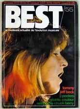 Revue BEST Février 1973 Jeff Beck Tommy Cat Stevens Nicky Hopkins