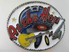 Rock and roll belt buckle at the hop rocker rockabilly.
