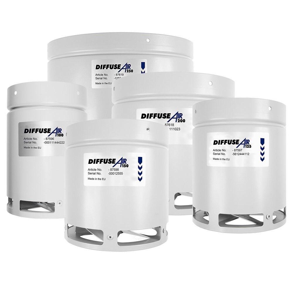 Systemair diffuseair 150 6  la circulación de aire 6 in (approx. 15.24 cm) 150 mm difusor G.A.S