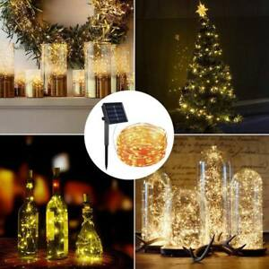 100-LEDs-Solar-Powered-String-Copper-Wire-Fairy-Garde-Xmas-Party-Outdoor-Lights