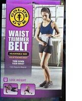 Gold's Gym Waist Trimmer Belt Adjustable Exercise Belly Fat Unisex 50 Stretch
