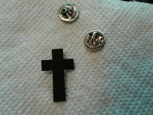 MILITARY-HAT-PIN-CHAPLAIN-CROSS-BLACK