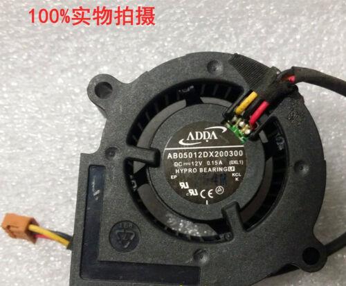 Original ADDA AB05012DX200300 Blower Fan Cooling Fan 3wire 12V 0.15A #M2099 QL K