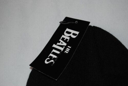 THE BEATLES Brodé Drop T Logo Beanie Ski Chapeau nouveau officiel Abbey Road