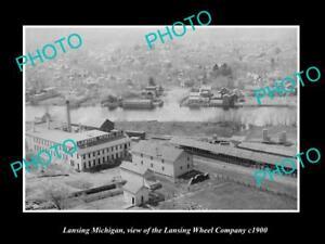 OLD-LARGE-HISTORIC-PHOTO-OF-LANSING-MICHIGAN-THE-LANSING-WHEEL-COMPANY-c1900