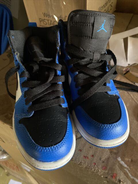 Air Jordan 1 Retro Youth Basketball SNEAKERS Sz 2y Blue Black Shoes 705303-400