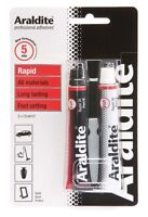Araldite Rapid Tube 2 x 15ml Tubes Strong Ceramics Wood Glass Metal Adhesive