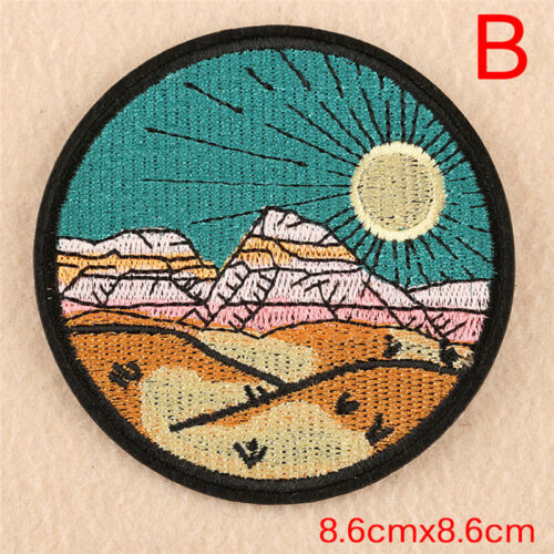 Embroidery Sew Iron On Patch Badge Transfer Fabric Bag Hat Jeans Applique BRASK