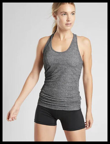 Athleta NWT Women/'s Speedlight Heather Tank Size Med Color Norwegian Grey