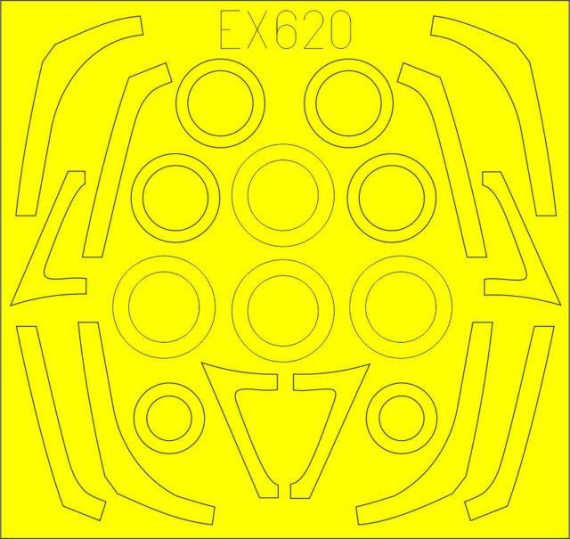 Revell EDMEX106 B-17G - Eduard Mask 1:48