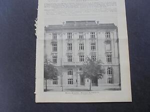 1899 Baugewerkszeitung 70/berlin Vigne Rue Zooviertel-ung 70 / Berlin Rankestraße Zooviertel Fr-fr Afficher Le Titre D'origine