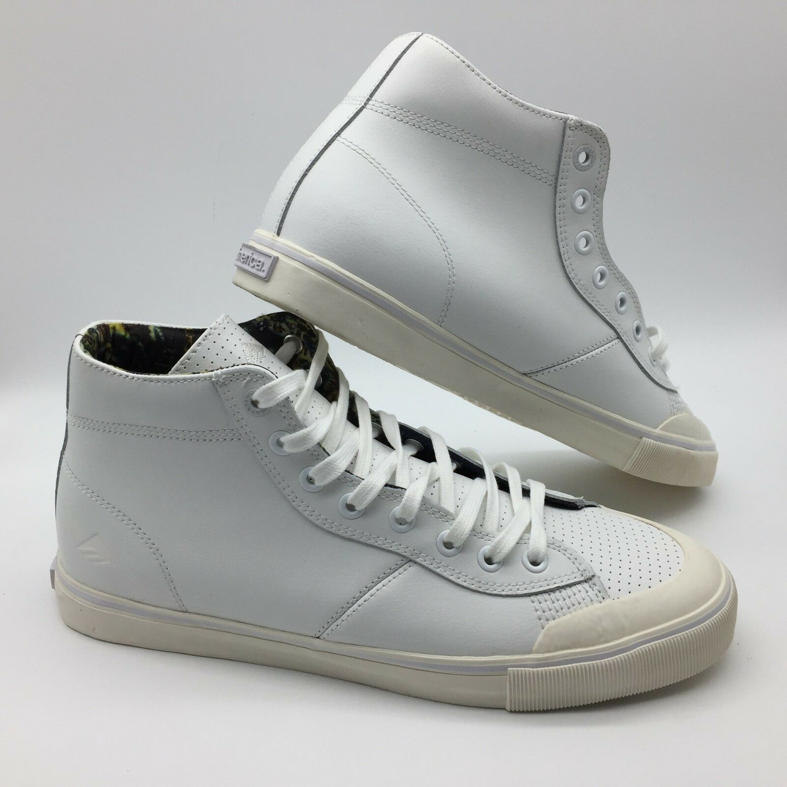 Emerica Men Women's shoes  INDICATOR HIGH   White Print