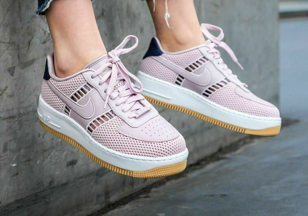 WOMENS NIKE AIR FORCE 1 UPSTEP SI UK 4.5 EU 38 TRAINERS 917591-600  AF1 PINK