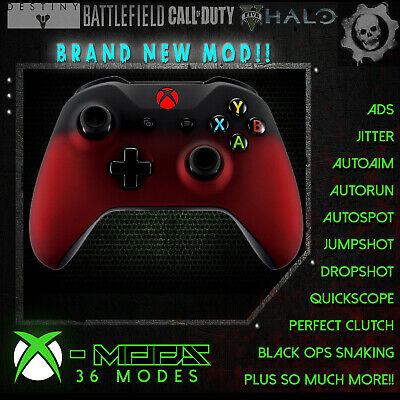 xbox one rapid fire controller soft red fade new mod best on ebay not scuf ebay
