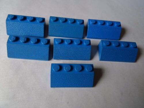 LEGO PART 3037 BLUE SLOPES x 7 WITH 4 STUDS