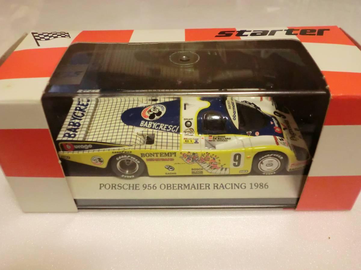 promociones Estrellater 1 43 Porsche 956 956 956  9 Le Mans 1986 Bontempi babycresci obermaier racing  perfecto