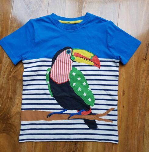 MINI BODEN BOYS APPLIQUE SHORT SLEEVED Toucan Stripe T-Shirt TOP BRAND NEW B0328