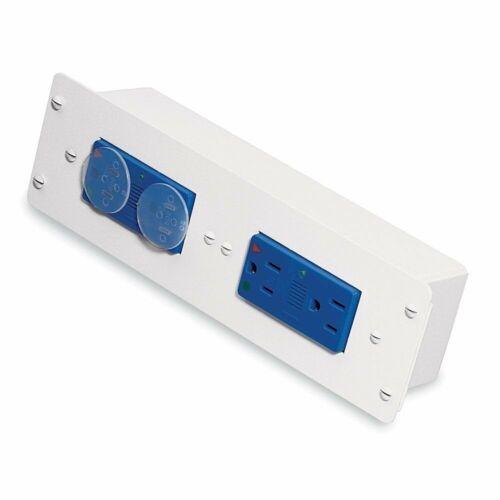 White Qty 2 Leviton 47605-DP Double Duplex AC Power Module w//Surge Protection