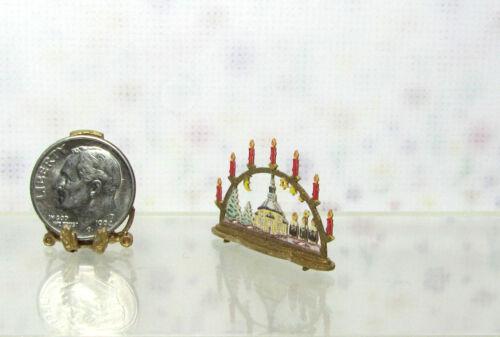 Silvia Leiner Dollhouse Miniature Small Christmas Tabletop Church Arch Display