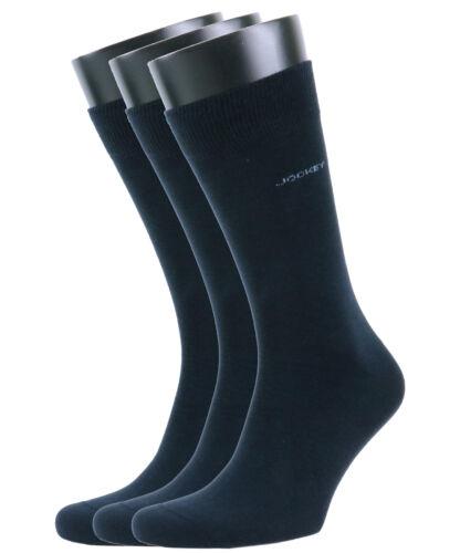 Jockey Mens Plain Cotton Casual Socks 3 Pair Pack