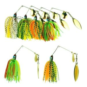 4PCS-Hard-Lure-Spinner-Bass-Bait-Tackle-Fishing-Freshwater-17-4g-Assorted-Hook