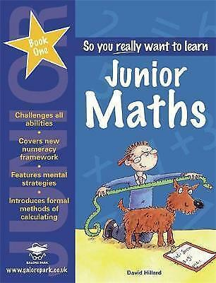 Junior Maths: Book 1 (So You Really Want to Learn)-ExLibrary