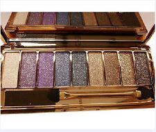 9 Colors Shimmer Eyeshadow Eye Shadow Palette & Makeup Cosmetic Brush Set NEW#2