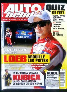 100% Vrai Auto Hebdo Du 17/08/2011; Loeb Essai En Wtcc/ Kubica Le Retour/ Nascar à Charlot Magasin En Ligne