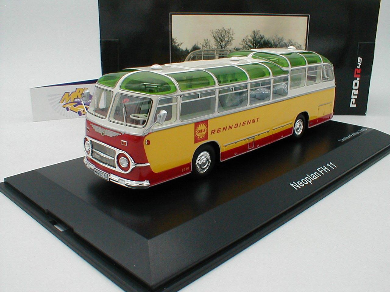 Schuco 08965 - Neoplan FH 11 Bus gelb-rot   Shell Renndienst   1 43 Sonderpreis