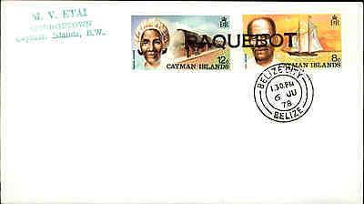 Rational Paquebot Belize City Schiff Ship Mv Etai Shipletter Schiffspost Caman Islands Sonstige Briefmarken
