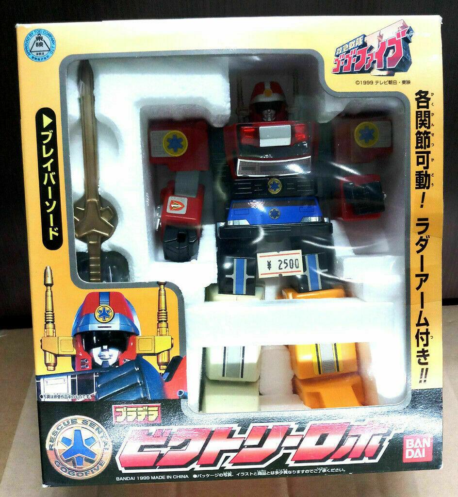 90s Beai Sentai  energia Rangers Rescue Senta Gogo Five Robot cifra Ranger Popy  design unico