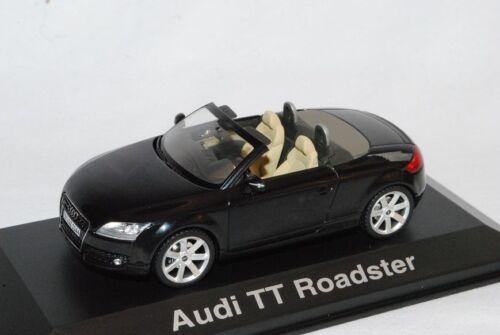 Audi TT Roadster Schwarz 8J Ab 2006 1//43 Schuco Modell Auto mit oder ohne indi..