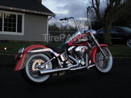"ATLAS Front 19/"" Slim Rear 15/"" Wide Motorcycle WhiteWalls tire insert trim set.."
