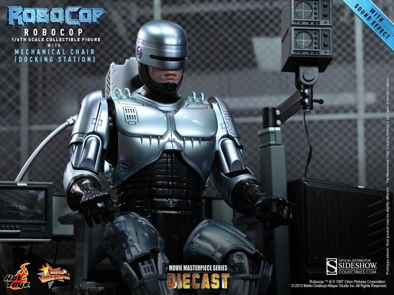 1 6 6 6 Scale Robocop with Mechanical Chair 12 inch figure by Hot Toys 0367ee