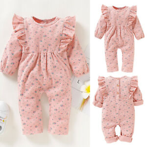 Newborn-Baby-Girl-Ruffle-Floral-Romper-Bodysuit-Jumpsuit-Playsuit-Clothes-Outfit
