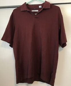 Geoffrey-Beene-Golf-Polo-Shirt-Red-Maroon-Mens-Size-M
