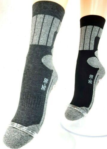 Taille 39-42 et 43-46 2 Paire Allround Sport et Skater Chaussettes Coton
