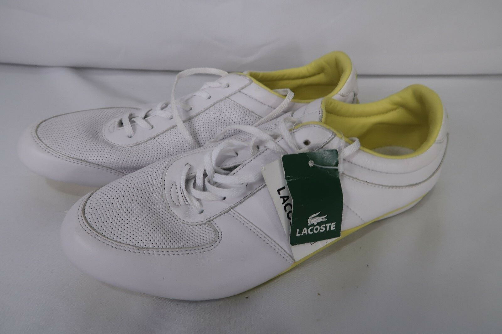 Women's Lacoste Sz 10 White Running shoes 13SPW2851 Inno 702 Twirl Wave F66 NWT