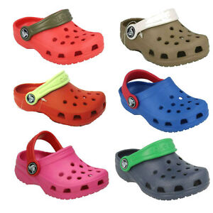 Unisexe-enfants-CAYMAN-a-enfiler-bride-arriere-RUBAN-AIR-trou-sabot-crocs