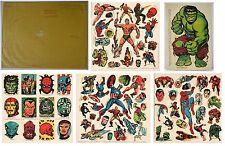 COMPLETE 1969 Marvelmania International Club MARVEL STICKER SET MAIL ORDER RARE