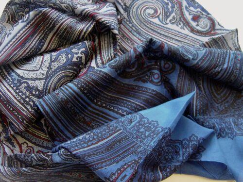 Des messieurs écharpe Soie écharpe en soie herrentuch Cravates écharpe Bleu