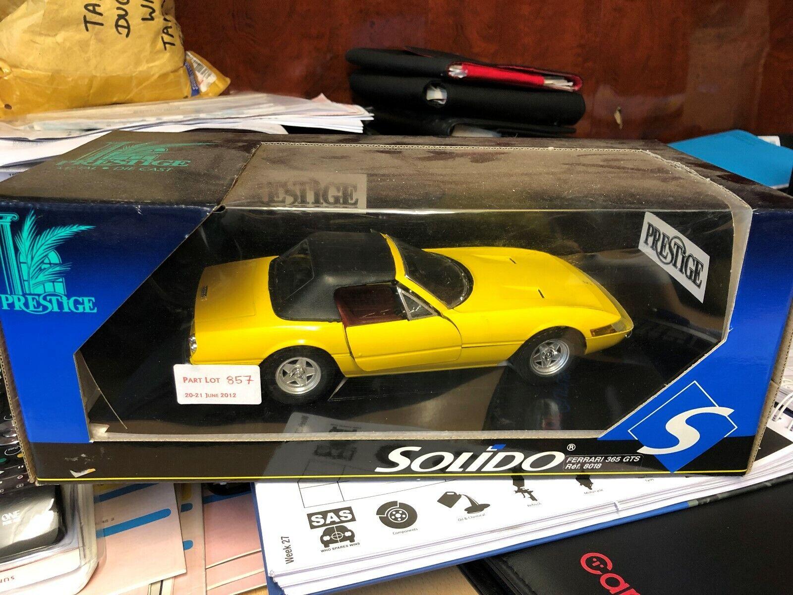 1 18 FERRARI 365 GTS Gelb NEW BOXED